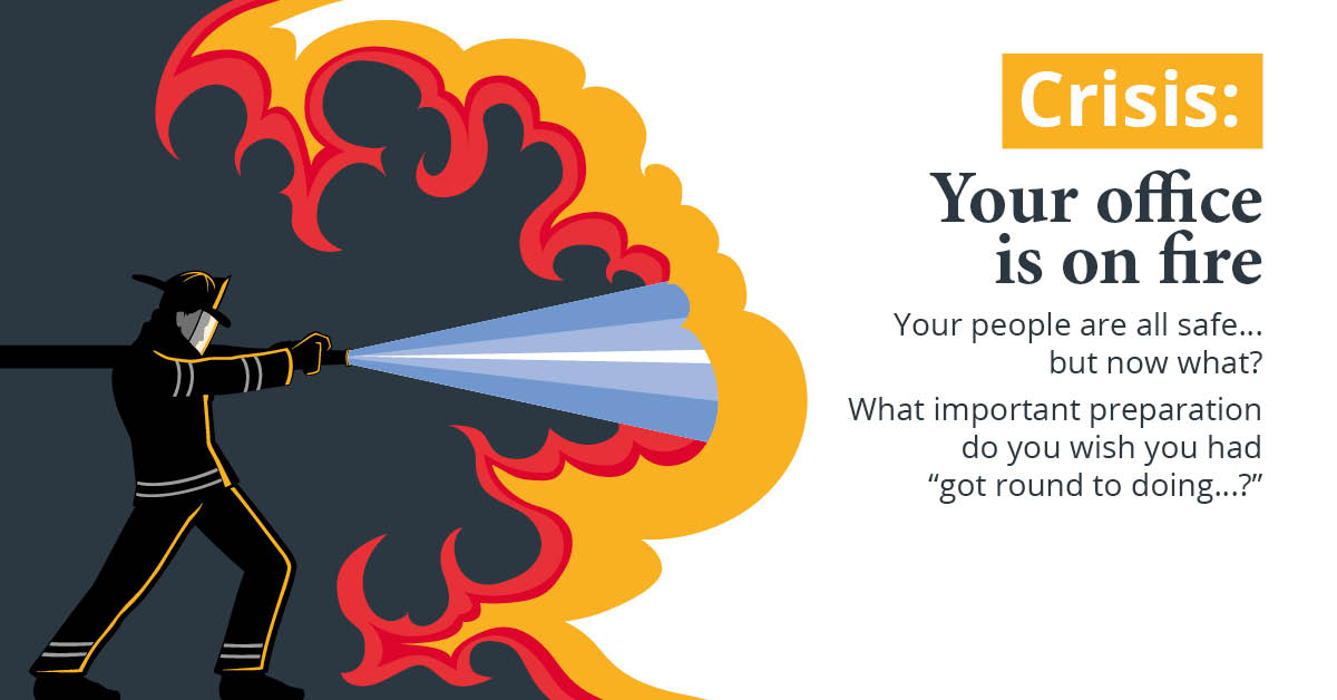 Your office is on fire! Did you backup your data?